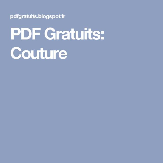Pdf patron couture gratuit