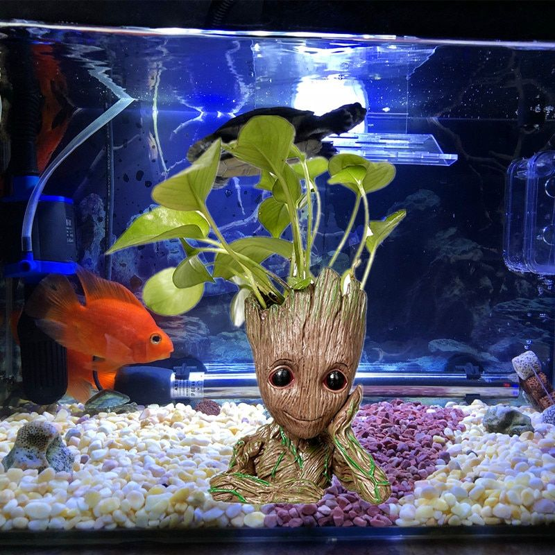 Groot Tree Man Aquarium Decoration Guardians Of The Galaxy Hero Action Figure Decor For Aquarium Fish Tank Fl Aquarium Fish Tank Fish Tank Aquarium Decorations