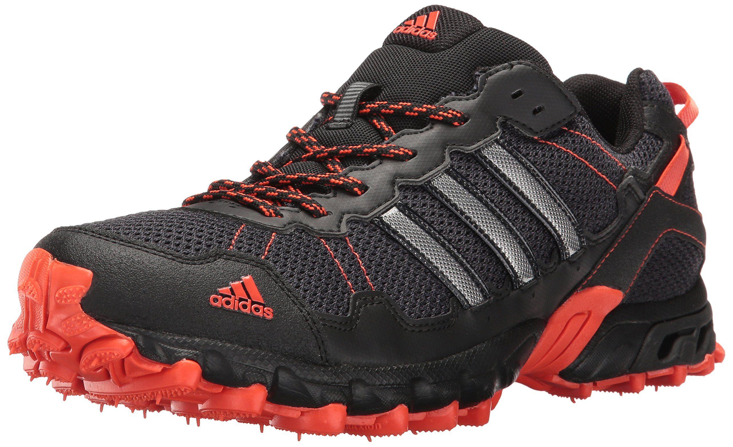 9a690823a9a adidas Performance Mens Rockadia Trail M Running Shoe Black Black Energy  10.5 M US