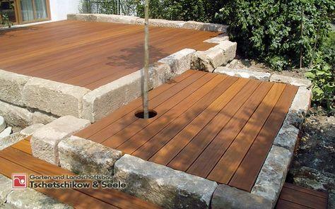 Holzterrasse Garten Pinterest Holzterrasse, Terrasse aus - garten und landschaftsbau bilder