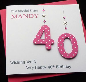 Personalised-Handmade-Hot-Pink-18th-21st-30th-40th-50th-60th-etc-Birthday-Card