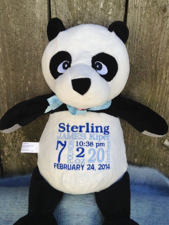 Personalized baby gift panda bear new baby by worldclassembroidery personalized baby gift panda bear new baby by worldclassembroidery 3999 negle Images