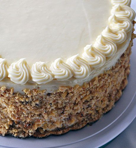 Up close and personal with our nut free delicious Carrot Cake and Cream Cheese frosting all made from scratch.