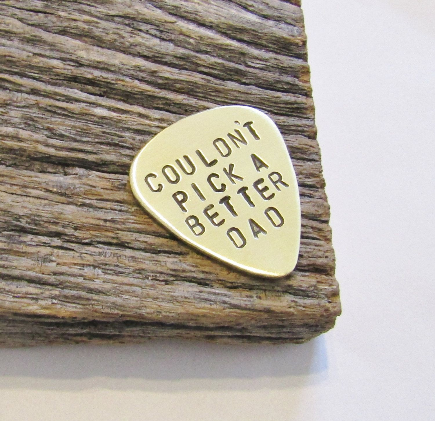 Hand Stamped Guitar Pick Fathers Day Gift Daddy Daughter To Dad From Son Birthday Grandpa Custom Metal Plectrum For Stepdad By