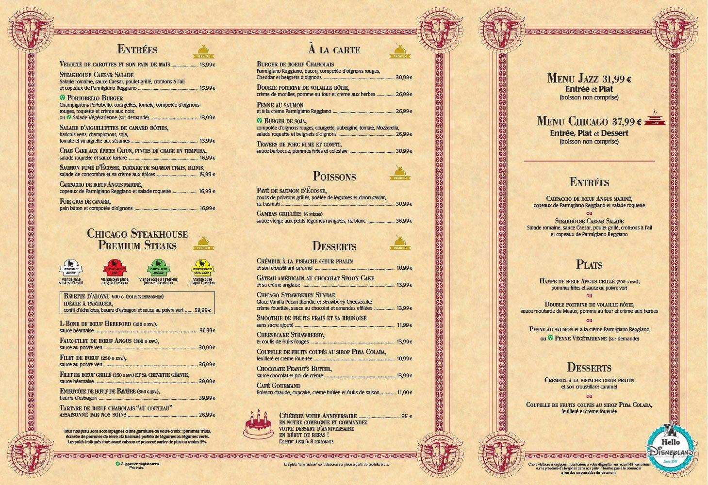 Parcs Disney et Disney Village : Menus & Cartes des restaurants de Disneyland Paris - Hello ...