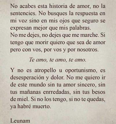 Leunam Tumblr Frases Para El Pinterest Amor Frases De Amor