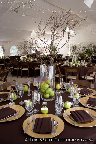Table settingsgood ideas wedding pinterest centerpieces wedding centerpieces table settingsgood ideas green and browngreen junglespirit Choice Image