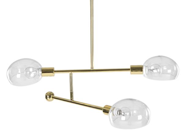 Günstige Wohnzimmerlampen ~ Tangle pendelleuchte messing und glas lampen leuchten