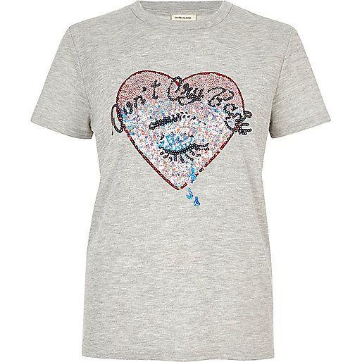 Bas Prix Pas Cher River Island T-shirt orné de sequins pour fille Meilleur Endroit À Vendre Magasin De Sortie Prix Pas Cher réal AZnqoMO