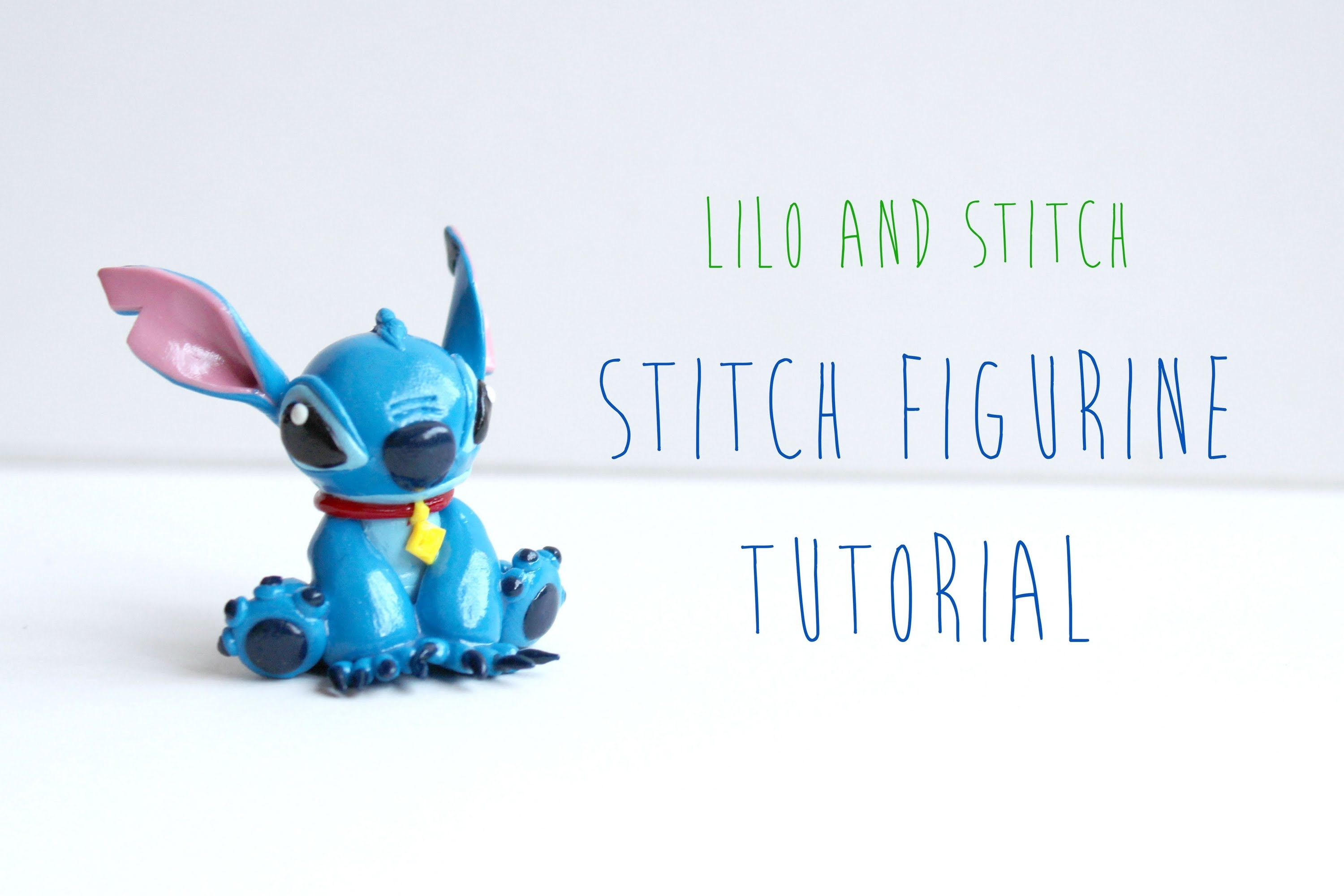 Stitch Polymer Clay Figurine Tutorial (Lilo and Stitch Film)