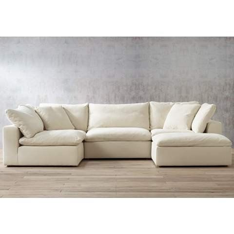 Belgian Linen Sofa Leather Sectional Austin Tx Skye Modular Chair