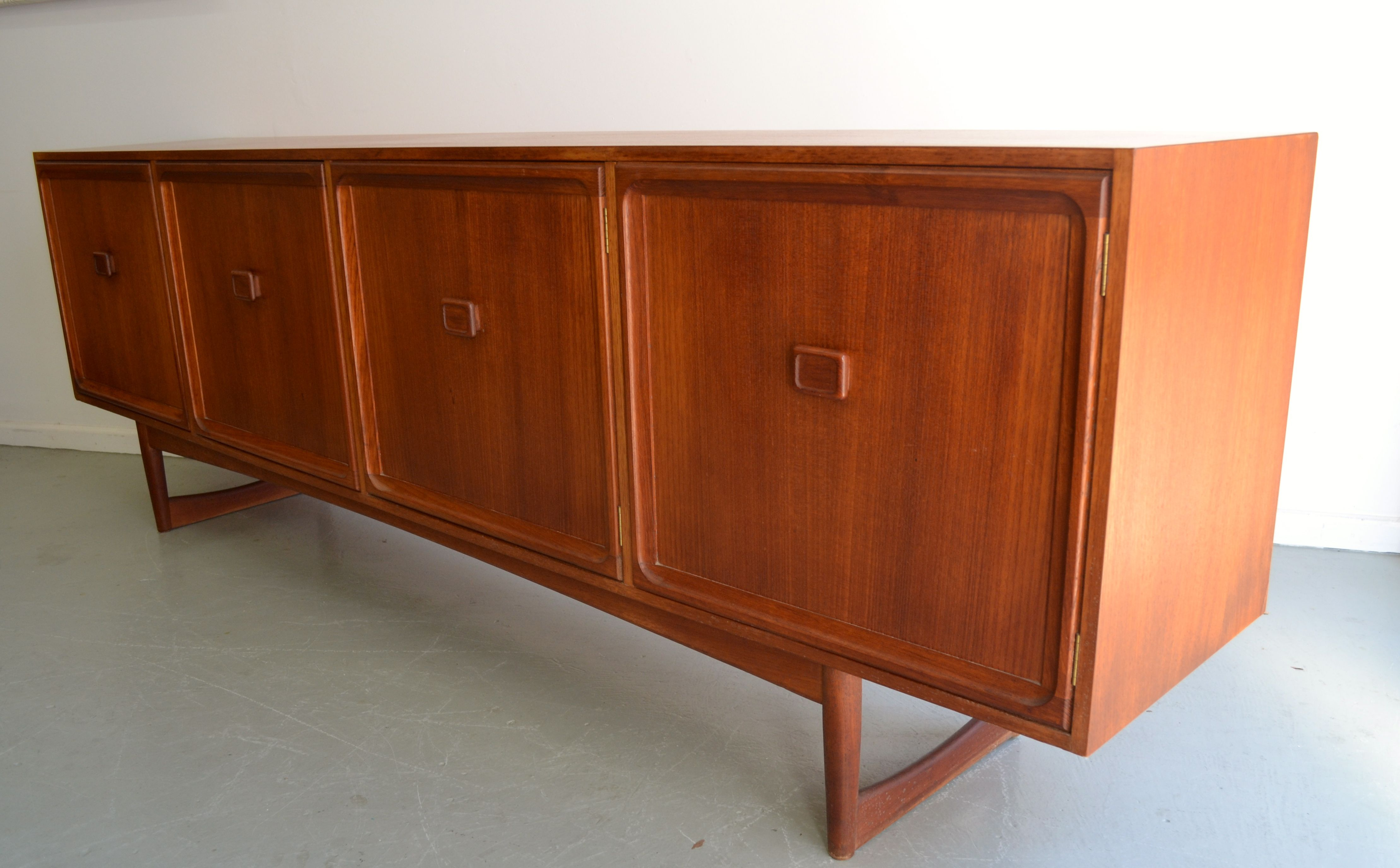 Australian Made Parker Teak Sideboard With Square Handles