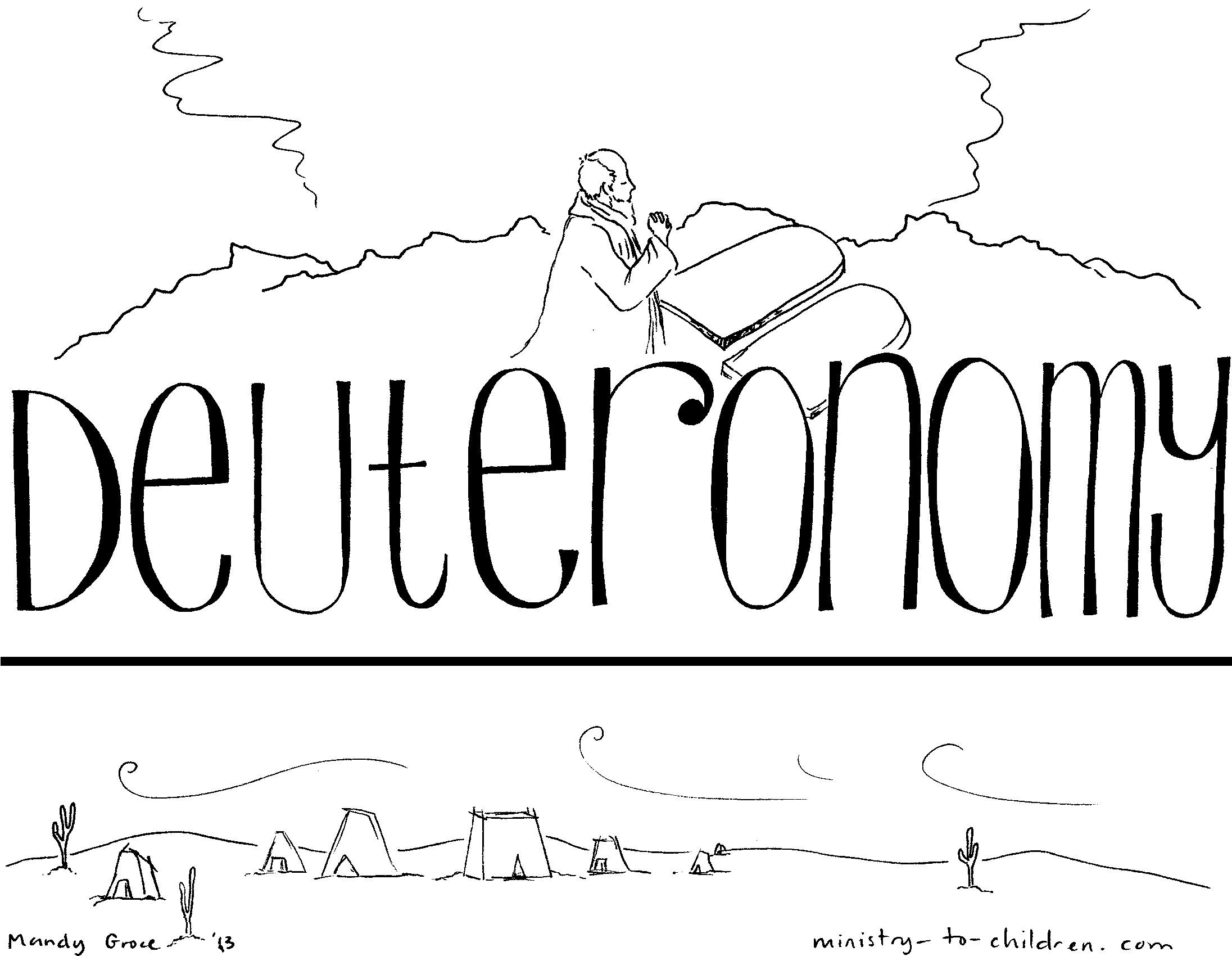 "Book of Deuteronomy"" Bible Coloring Page for Children"