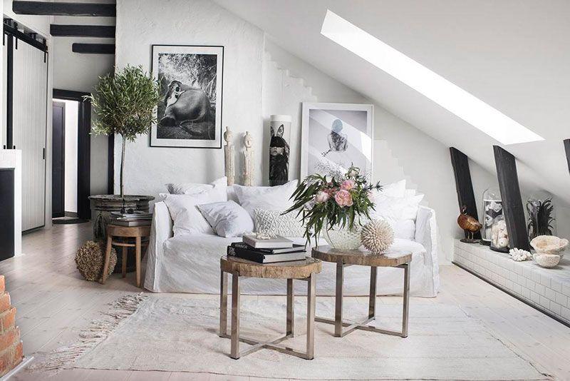 〚 Charming attic apartment with creative soul in Stockholm 〛 ◾ Photos ◾Ideas◾ Design #atticapartment