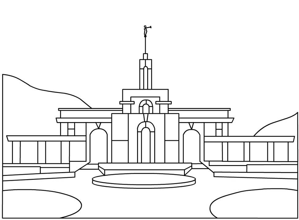 LDS Temple Coloring Page LDS Temple Coloring Page Coloring