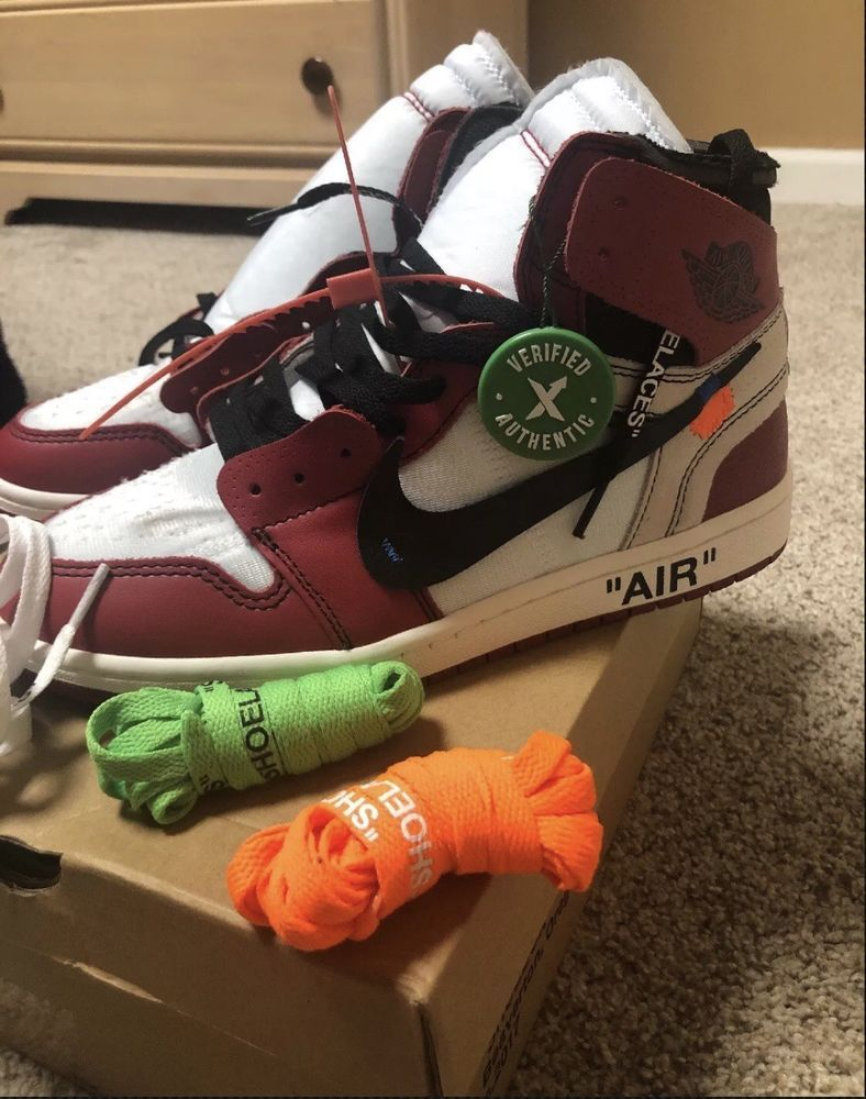 9cf4e9ab787dcf ... Athletic Shoes by Lezlie Ponder. Air Jordan 1 Off White Chicago Sz 8.5  New WITH Tag And Laces  fashion