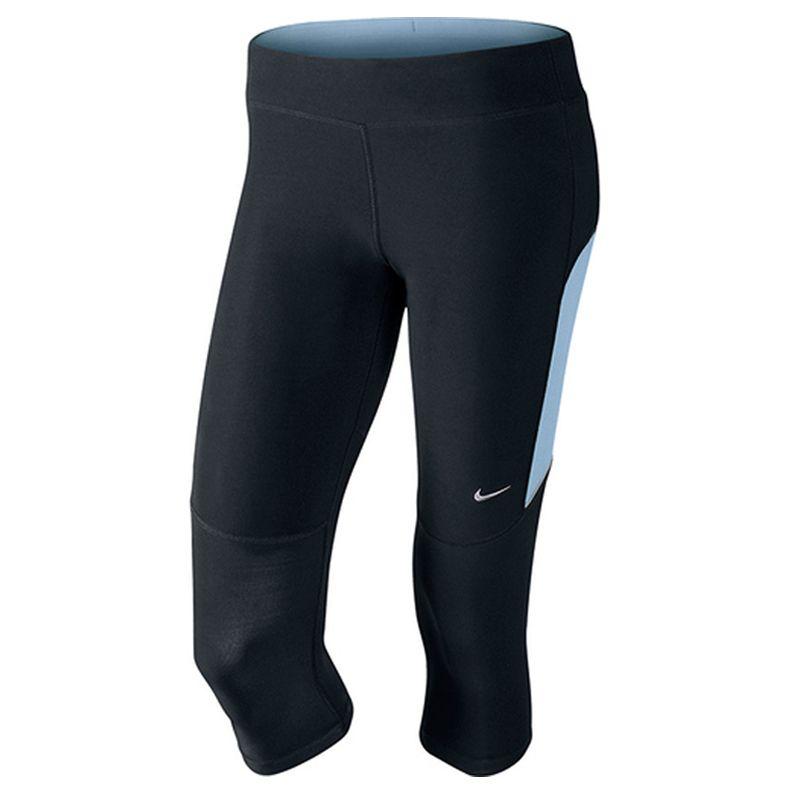 Nike capri Filament zwart/lichtblauw dames te bestellen bij  Hardloopaanbiedingen.nl. #Nike