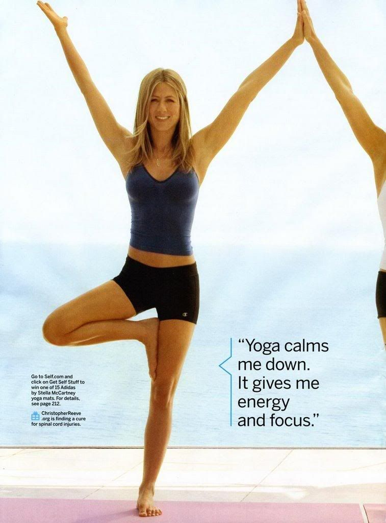yoga jennifer aniston