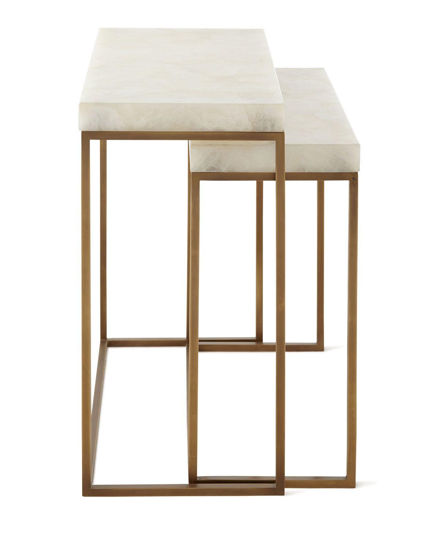 d8e99ebf372f9 John-Richard Collection Taylor Brass Nesting Tables