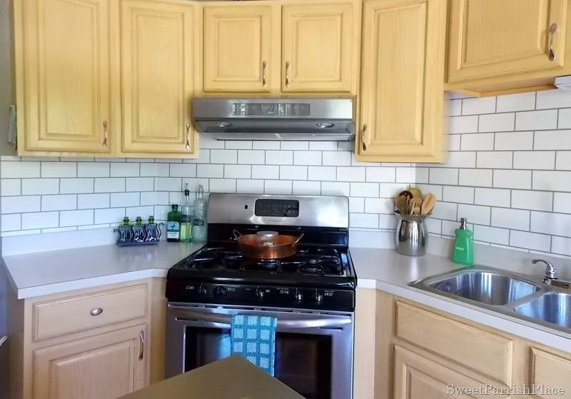 Painted Subway Tile Backsplash | Pin Your Projects - Bloggers Only ...