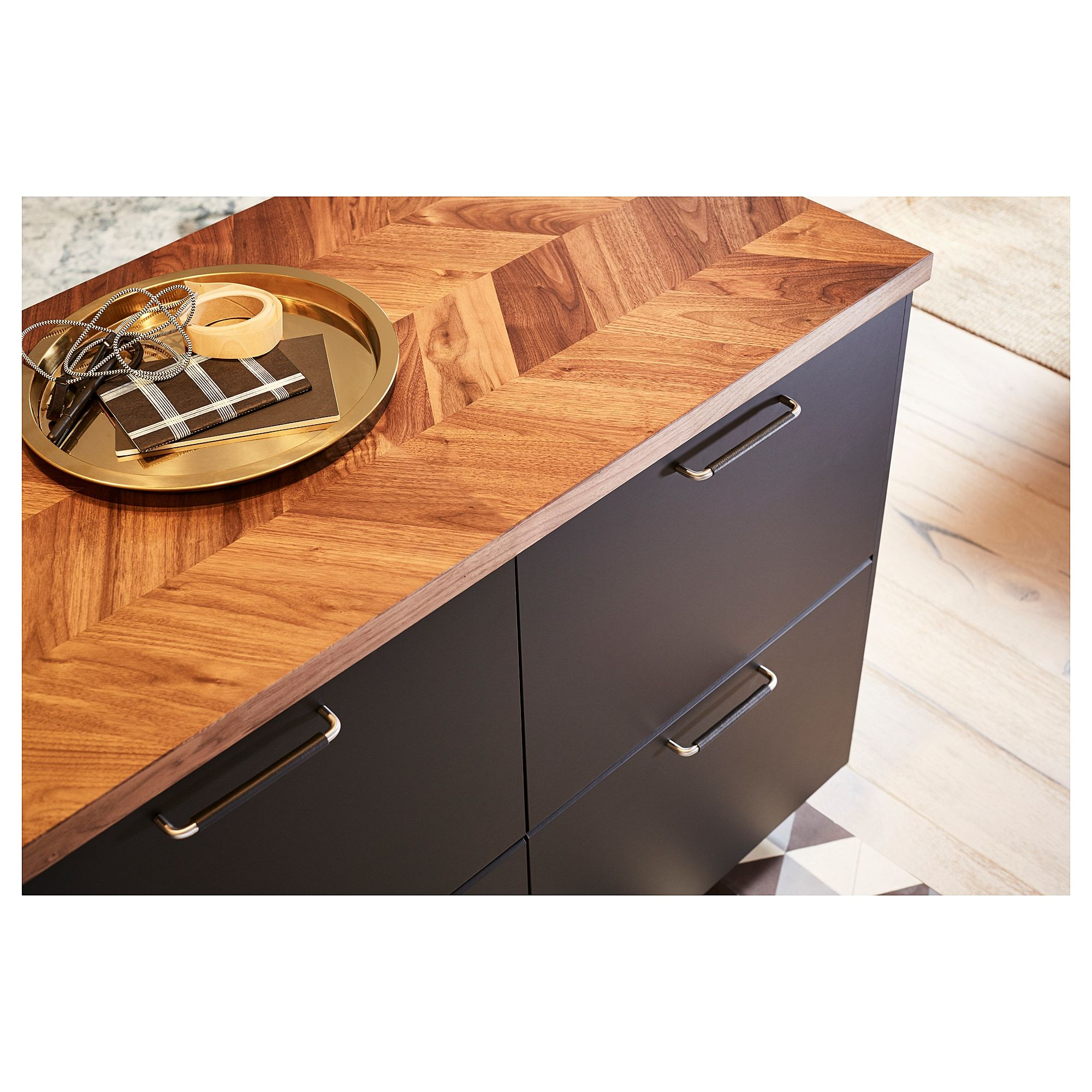Barkaboda Countertop Walnut Veneer 74x1 1 2 188x3 8 Cm Countertops Wood Worktop Wood Countertops