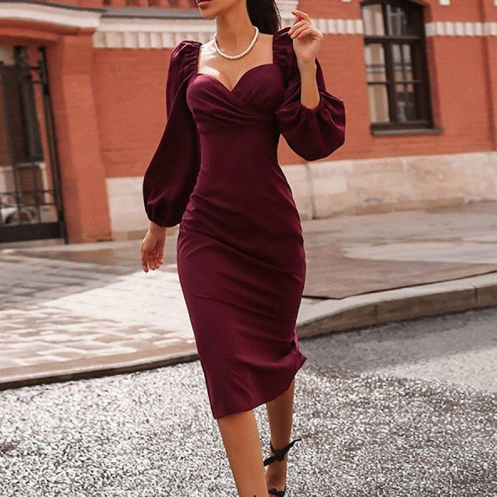 Puff Sleeve Strapless Long Sleeve Dress Price 25 96 Free Shipping Dressesloves Dresse Long Sleeve Dress Bodycon Dress Parties Strapless Long Sleeve Dress [ 1000 x 1000 Pixel ]