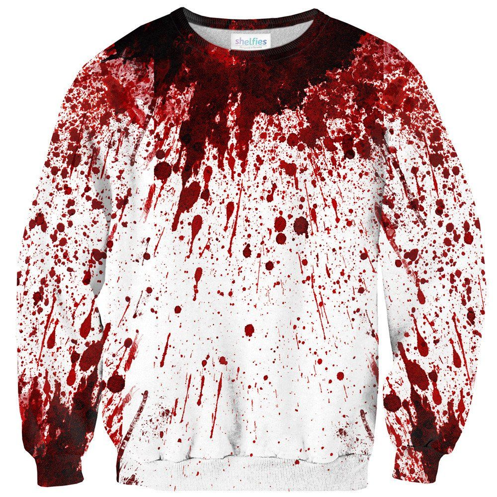 Blood Splatter Sweater | Blood, Red color and Printing