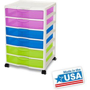 Perfect Studio X 2 Sterilite Wide 6 Drawer Cart  Multicolor