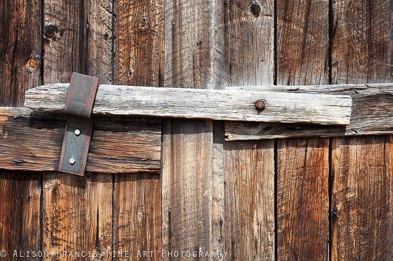 Photo of Wooden Latch: Rustic wooden door, old barn door, minimalist photography, western…