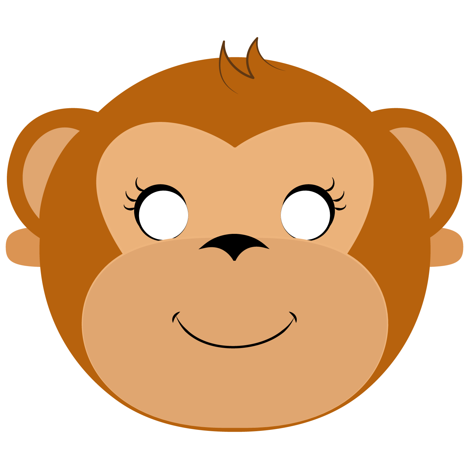 This is a graphic of Monkey Mask Printable pertaining to farm animal
