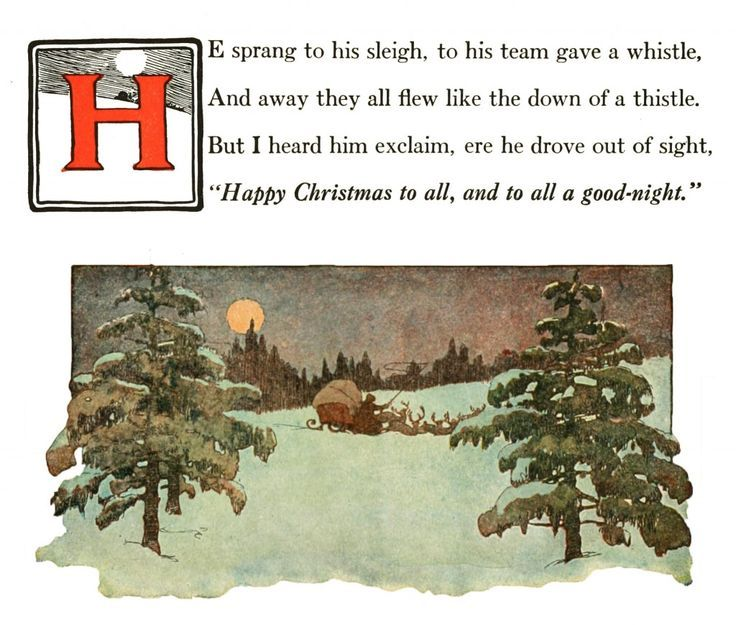 Happy Christmas to All Jessie Willcox Smith | Twas the night, The night before christmas, A ...