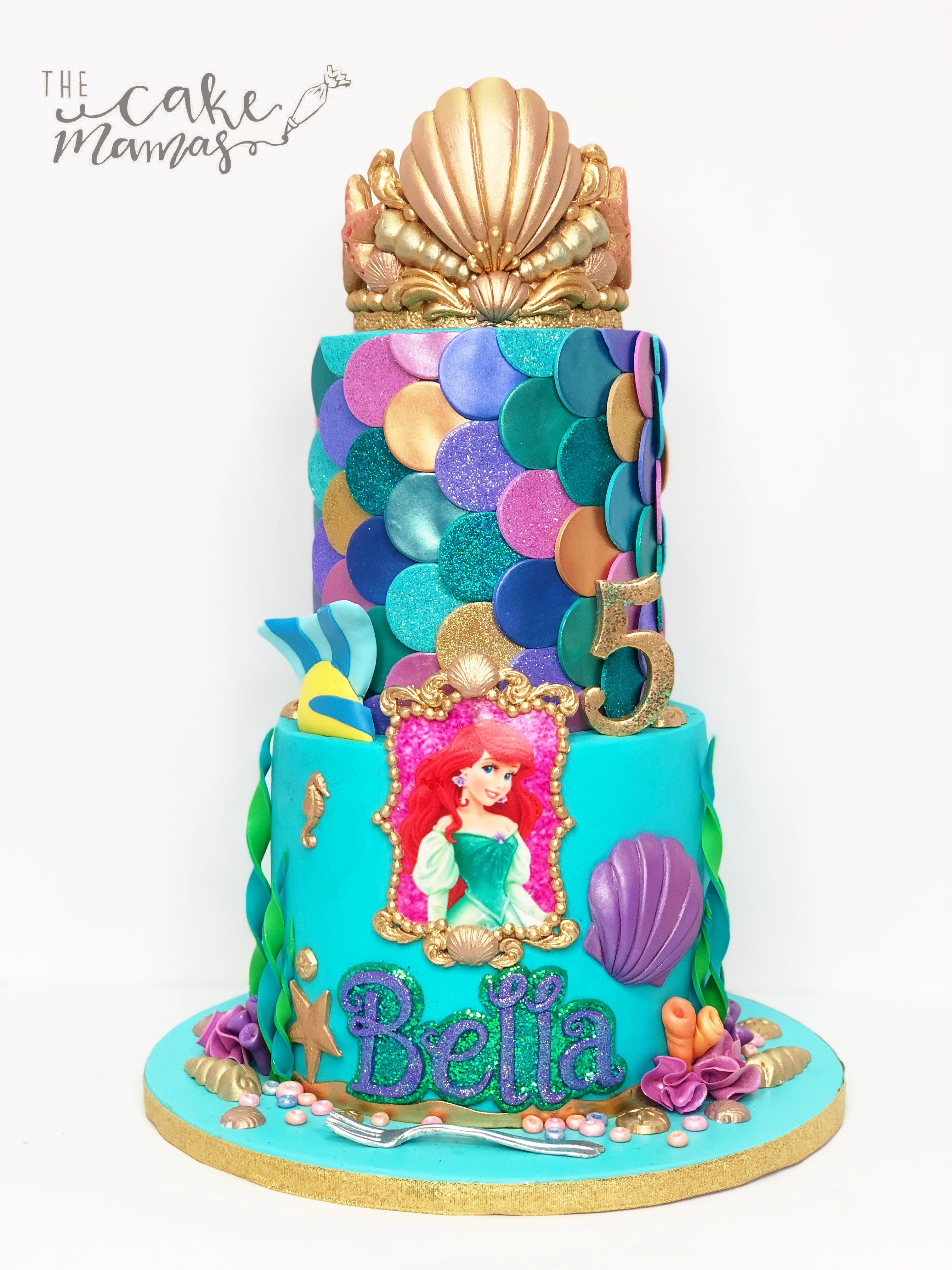 Miraculous Little Mermaid 5Th Birthday Cake Call Or Email To Place Your Funny Birthday Cards Online Alyptdamsfinfo