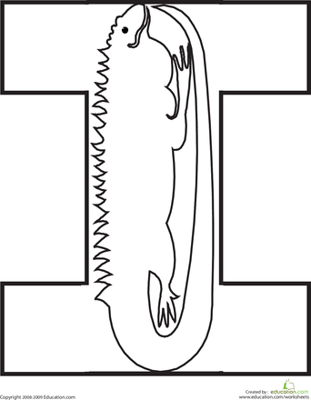 letter i coloring page - I Coloring Page