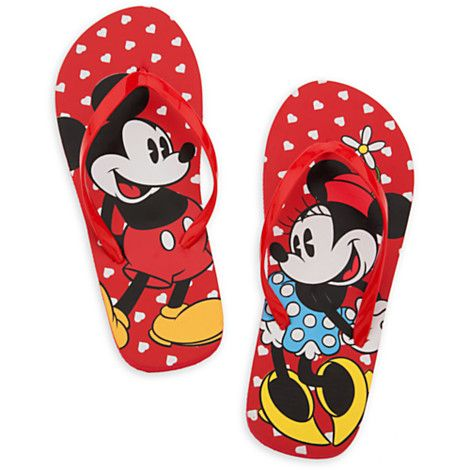 624dd3d30a0b5 Mickey and Minnie Mouse Flip Flops for Women from the Disney Store and  available at The Mall at Park Avenue.