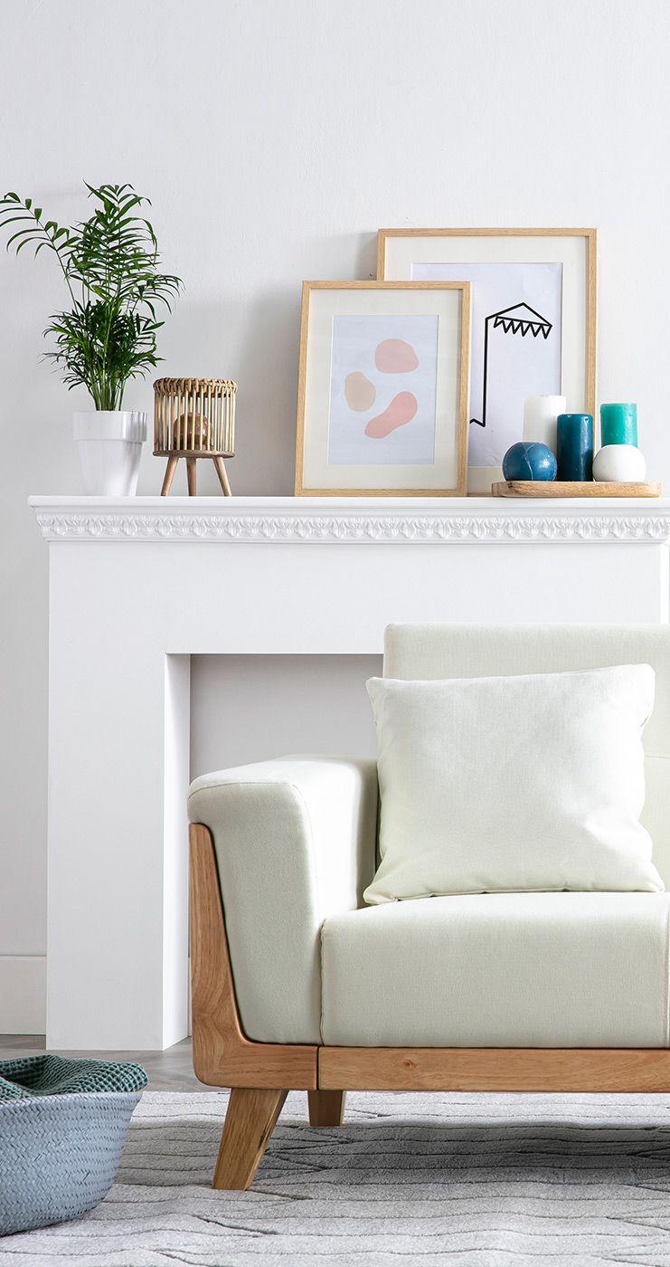 Canape Scandinave 3 Places Blanc Casse Et Bois Fjord Miliboo En 2020 Canape Design Canape Scandinave 3 Places Mobilier De Salon