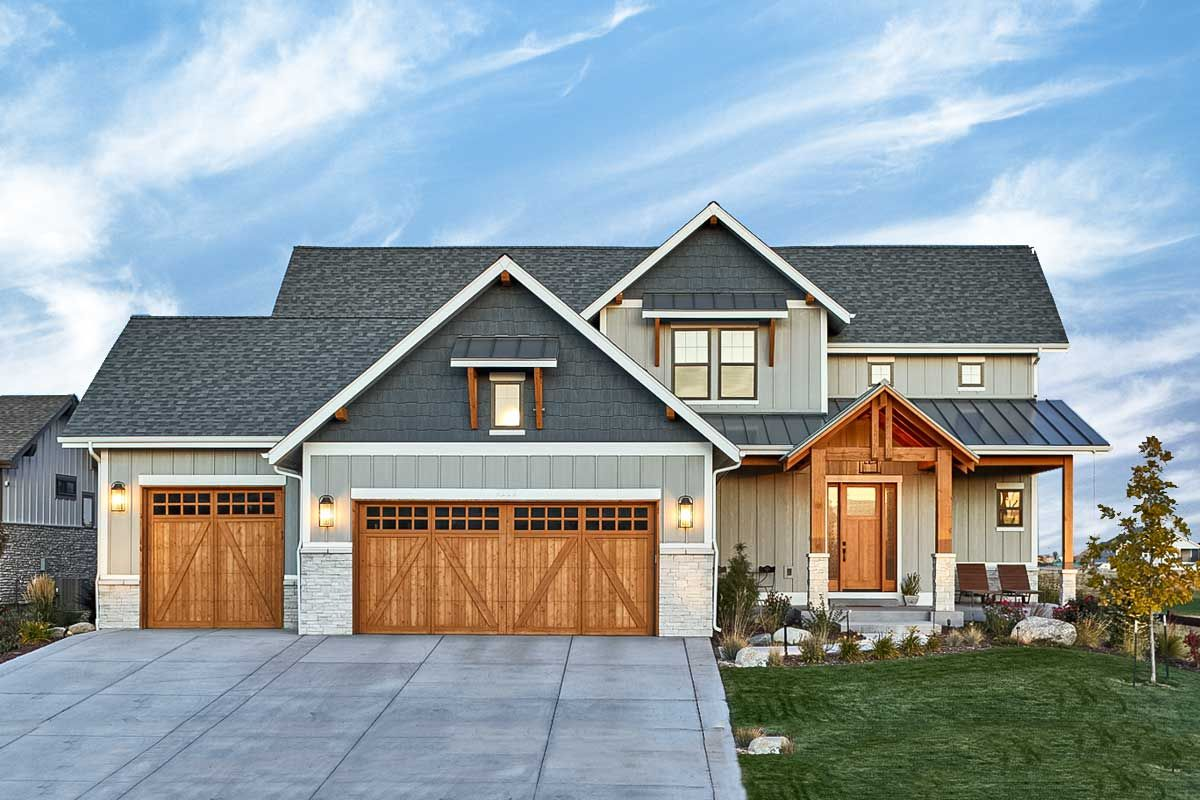 Plan 95083RW Luxury New American Home Plan with Split