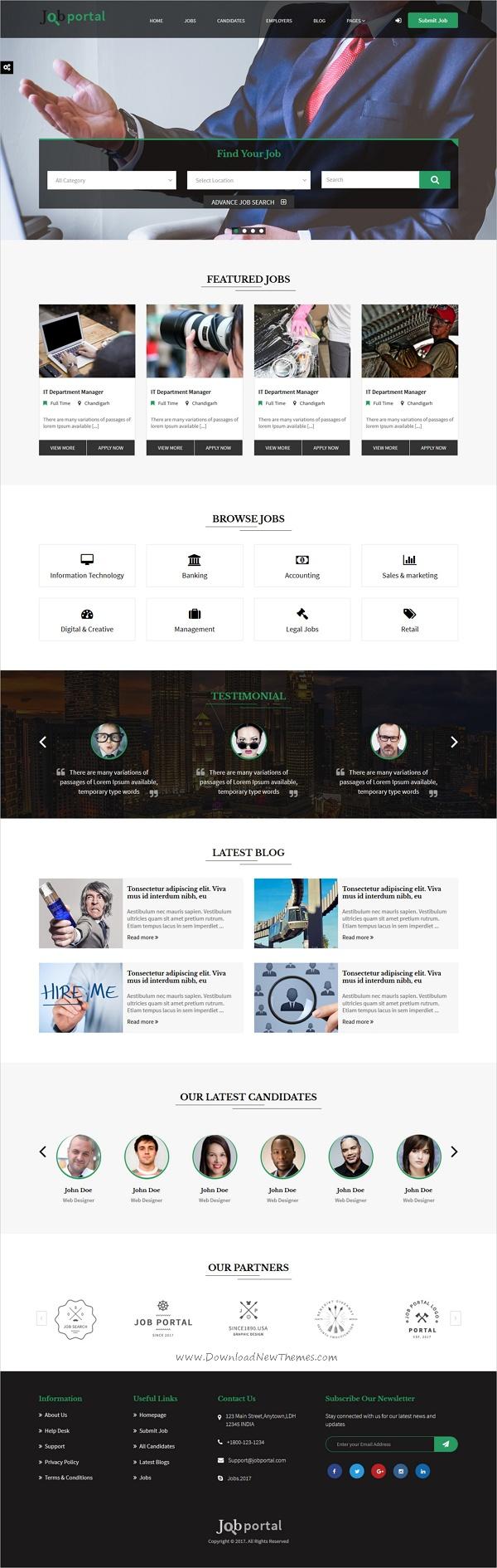website html template