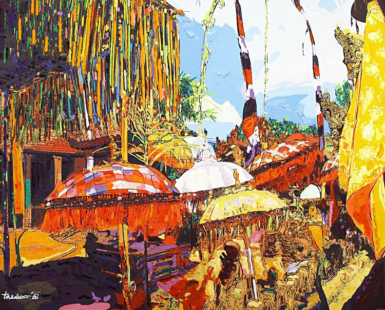 Dandung B Kahono Odalan Pura di Desa Batu Bulan Bali