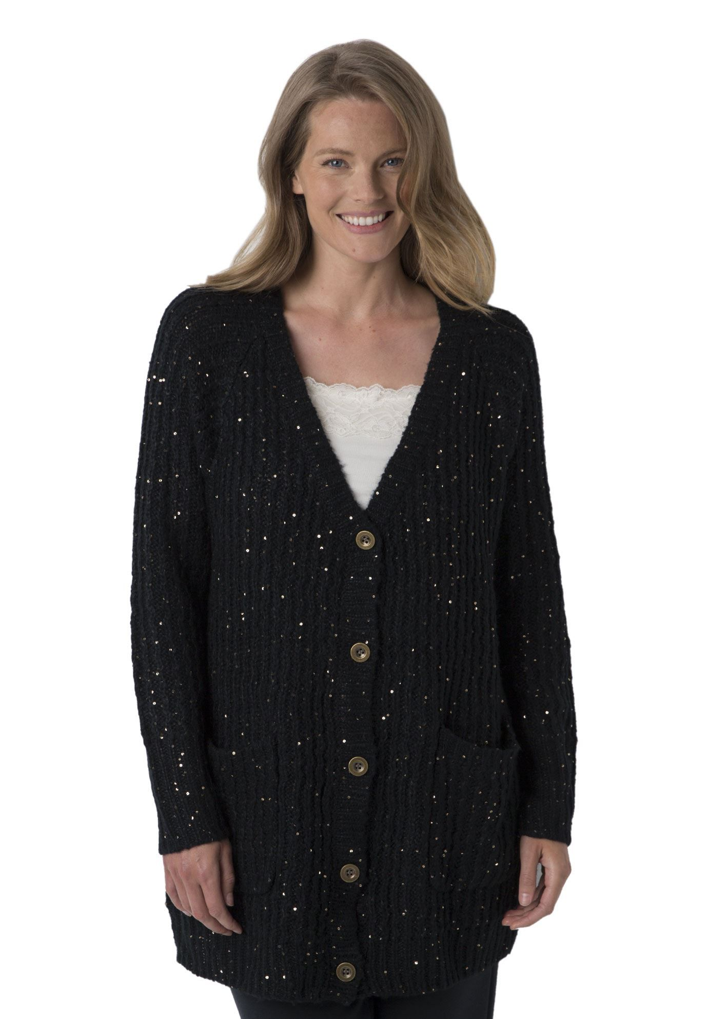 Elevate the occasion with the subtle sparkle of sequins in a cozy ...
