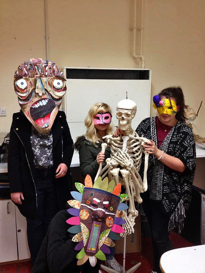 MASK MAKING DAY -  'Art is made to disturb. Science reassures. There is only one valuable thing in art: the thing you cannot explain' Georges Braque
