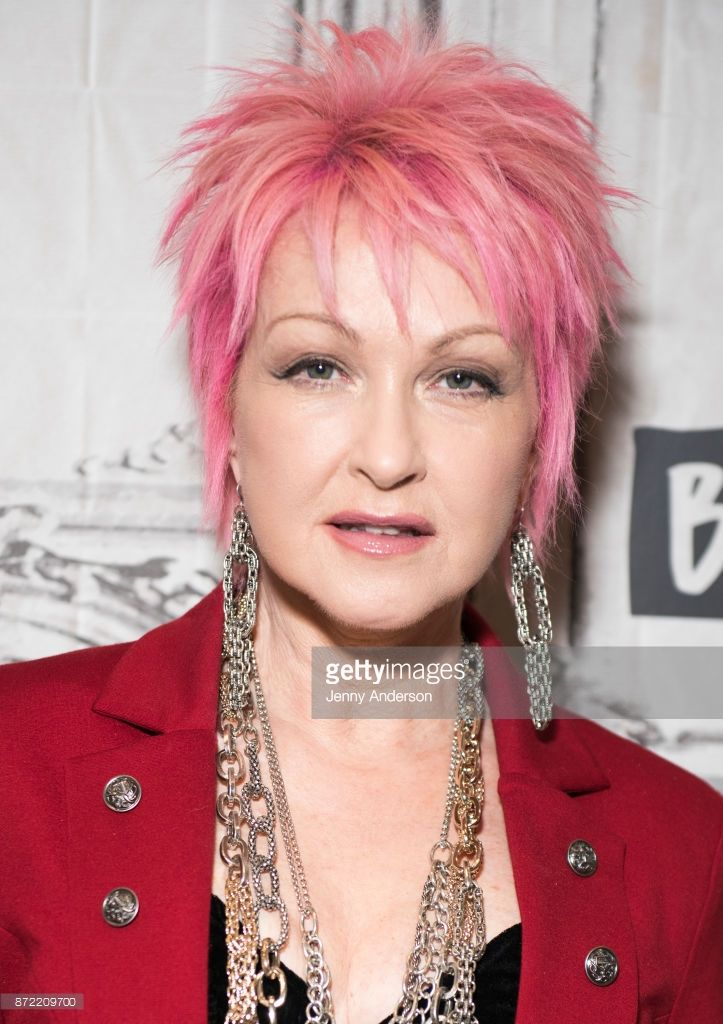 Image Result For Cyndi Lauper Pink Hair Buzzed Hair Pinterest