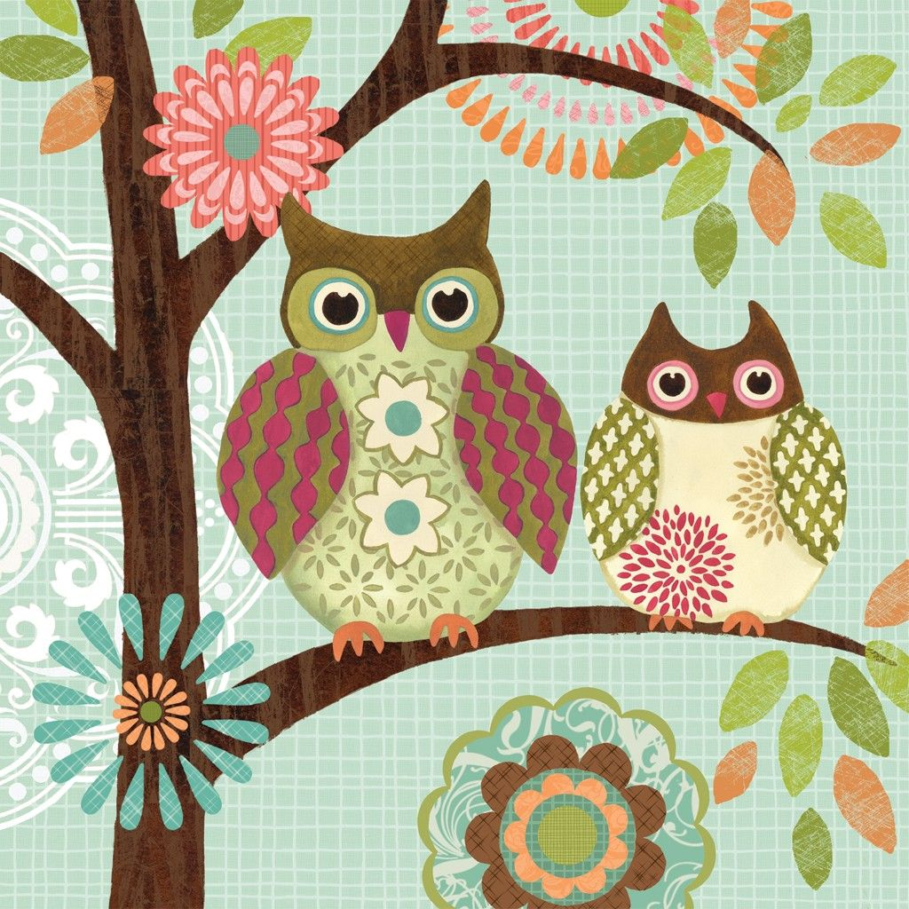 Forest Owls I By Jennifer Brinley Gallery Wrap By Ingallery Com Owl Canvas Owl Art Owl Pictures