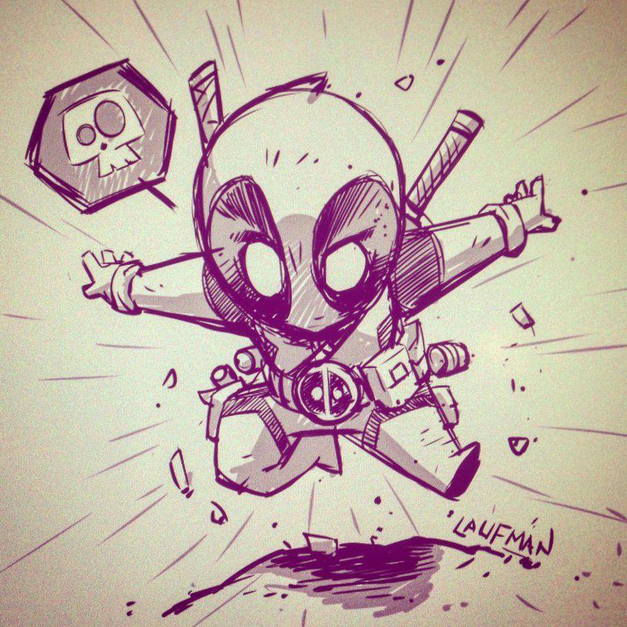 Deadpool Chibi By Dereklaufman On Deviantart Desenhos Deadpool