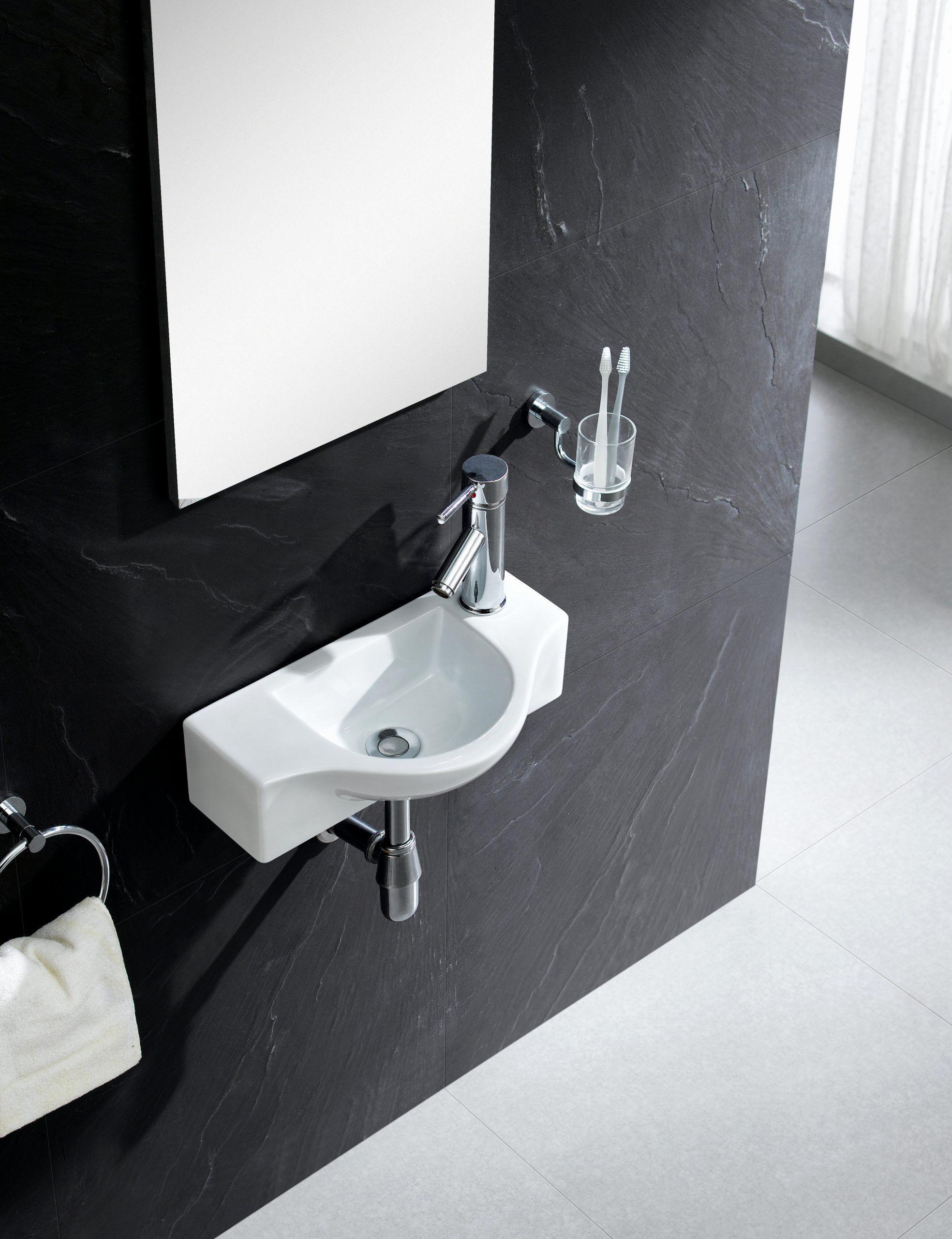 Sink For Small Bathroom Elegant Fine Fixtures Modern Ceramic 18 Wall Mount Bathroom Sink In 2020 Wall Mounted Bathroom Sinks Bathroom Sink Sink