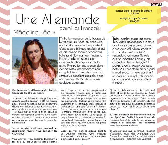 Scrisa de liceeni, revista Phénix vrea sa readuca in prim-plan limba franceza