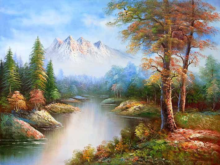 Classic Mountain Landscape Oil Paintings Online Manzara Resimleri Resimler Manzara