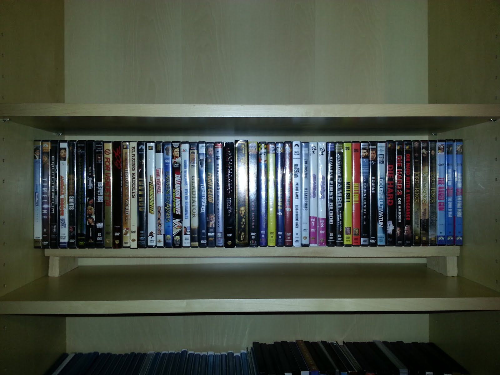 Ikea Hackers Billy Bookshelf Dvd Shelves Double Stack Dvds To