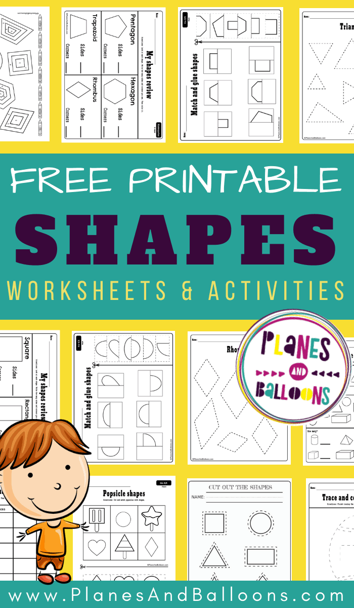 Free Printable Shapes Worksheets Pdf Planes Balloons Let S Make Learning Fun Shapes Preschool Shapes Preschool Printables Shapes Worksheet Kindergarten [ 1200 x 700 Pixel ]