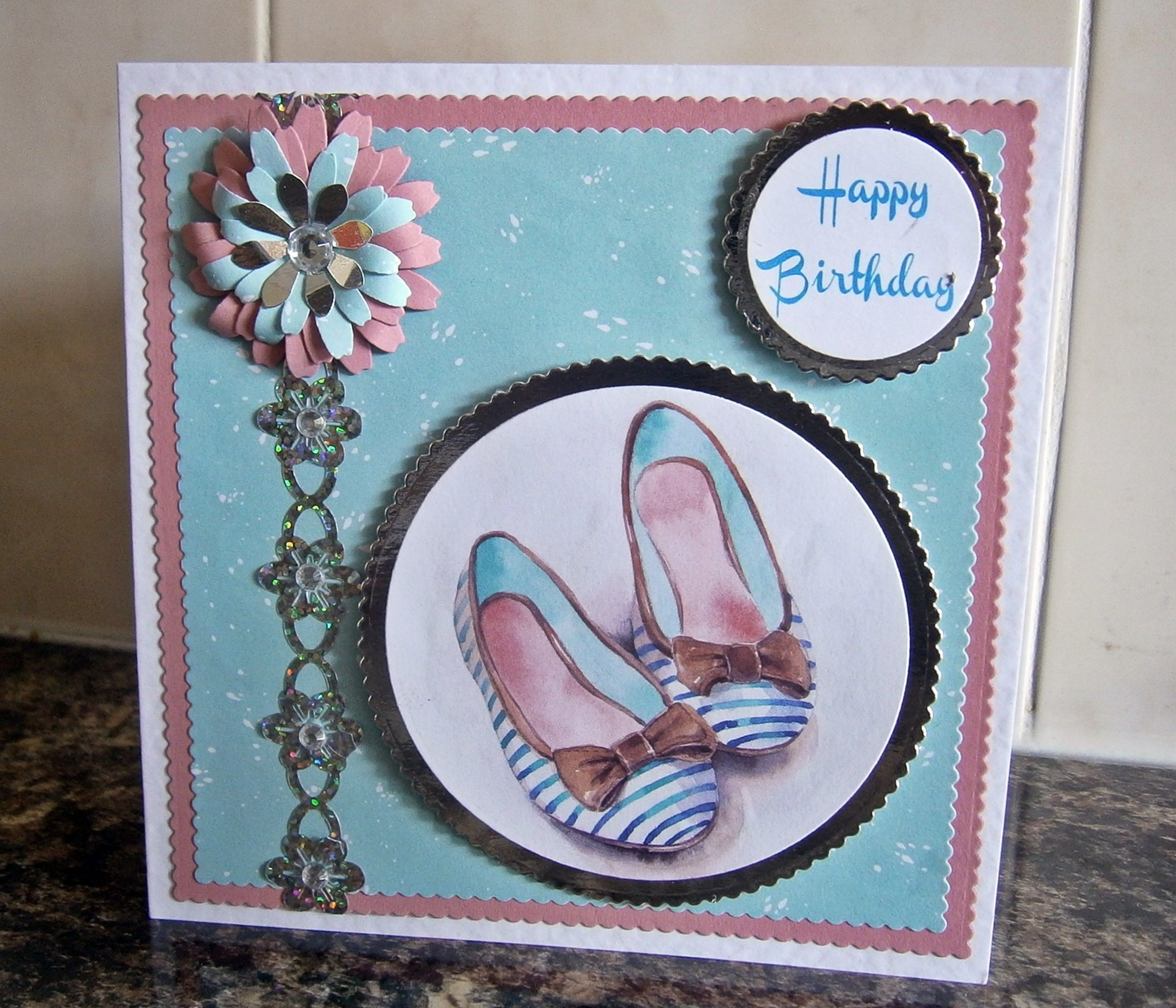 Card made from Making Cards Magazine Free papers