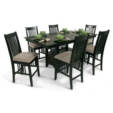 Brunswick Pub 7 Piece Set Glass Dining Table Designs Glass